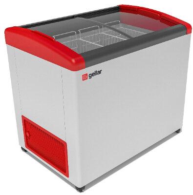 Морозильный ларь Gellar FG 350 E (FG 300 E) красный