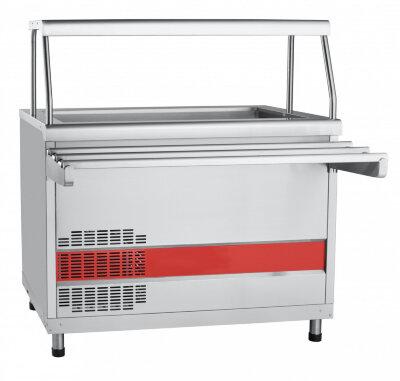 Прилавок холодильный с ванной Abat Аста ПВВ(Н)-70КМ-02-НШ