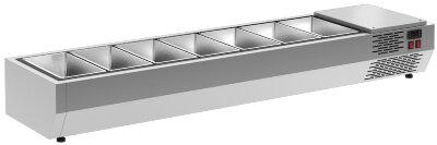 Холодильная витрина для ингредиентов Полюс A40 SM 1,6 0430 (Carboma VT3-G)