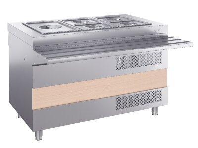 Охлаждаемый стол Atesy Ривьера ОС-1200-02-О (с отверстием под полку)