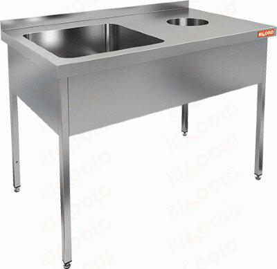 Ванна моечная с отверстием для сбора отходов Hicold НДСО1М-15/6БЛ