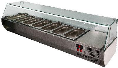 Холодильная витрина для ингредиентов Polair VT3v-G (1/3)
