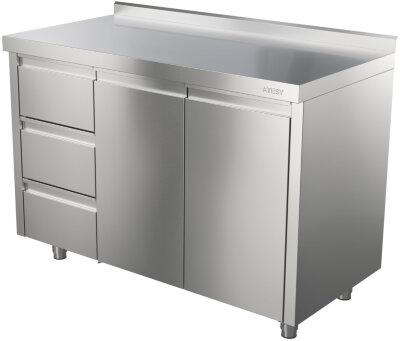Стол-тумба Atesy СТ-3/1200/600 (с ящиками)