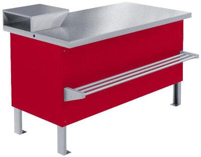 Прилавок холодильный (мясной) Марихолодмаш ПХС-1,55/0,85 (встр. холодоснабжение с креплением для перекладины)