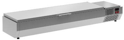 Холодильная витрина для ингредиентов Polair VT3-G (1/3) с крышкой