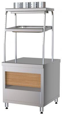 Прилавок приборов столовых с хлебницей Марихолодмаш ППСХ6