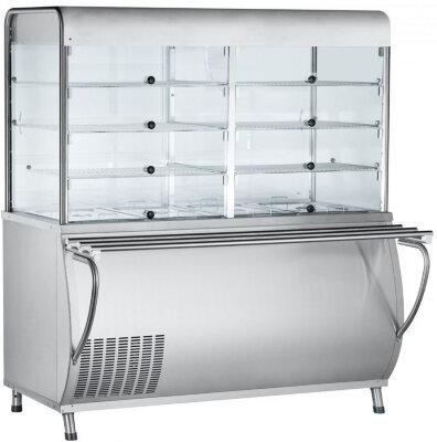 Прилавок-витрина холодильный Abat Патша ПВВ(Н)-70М-С-НШ