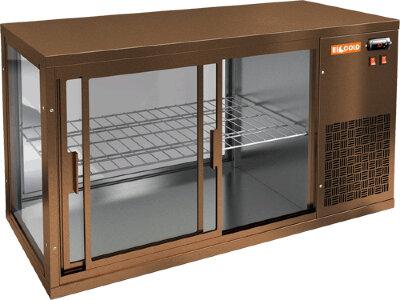 Витрина холодильная настольная Hicold VRL 1300 R Bronze