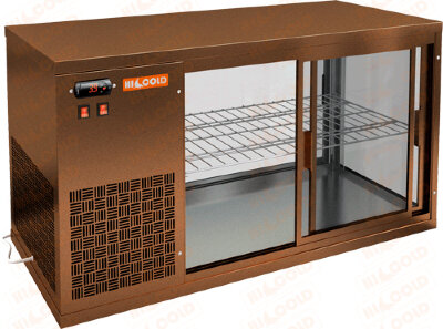 Витрина холодильная настольная Hicold VRL 1300 L Brown