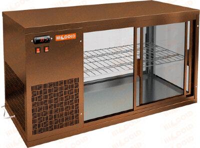 Витрина холодильная настольная Hicold VRL 1300 L Bronze