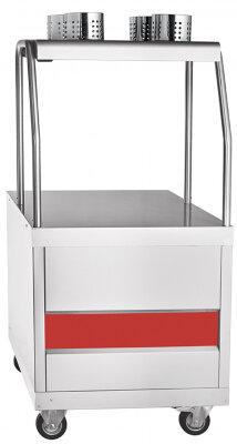 Прилавок для столовых приборов и подносов передвижной Abat Передвижная ПСП-70ПМ