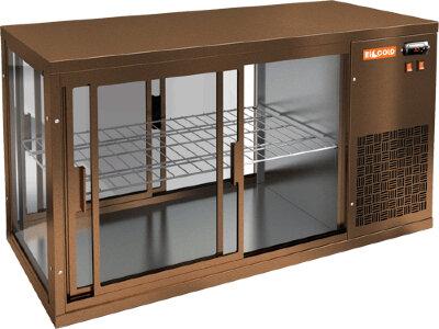 Витрина холодильная настольная Hicold VRL T 1300 R Bronze