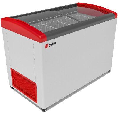 Морозильный ларь Gellar FG 575 E (FG 550 E) красный