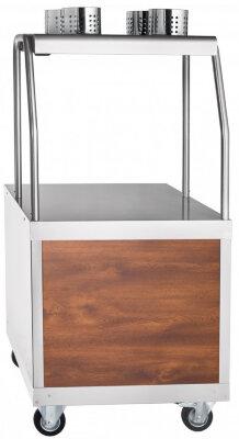 Прилавок для столовых приборов и подносов передвижной Abat Передвижная ПСП-70ПМ кашир.
