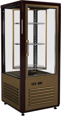 Шкаф кондитерский Полюс R120Cвр Сarboma (D4 VM 120-2 (корич-золотой, 1/2, INOX))