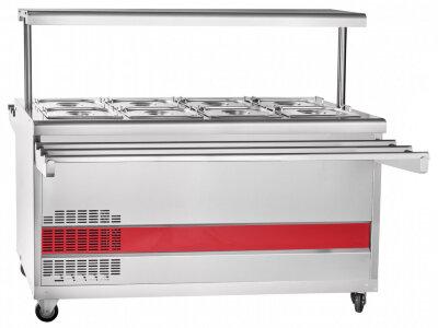 Прилавок для холодных закусок Abat Передвижная ПВВ(Н)-70ПМ-01-НШ