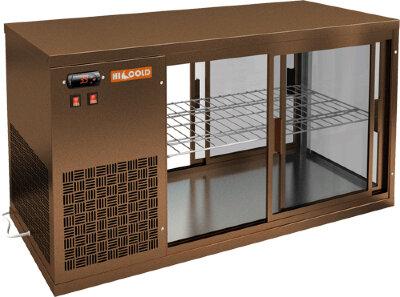Витрина холодильная настольная Hicold VRL T 1300 L Bronze