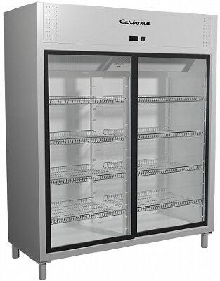 Холодильный шкаф Полюс R1400К (купе)  Carboma Inox