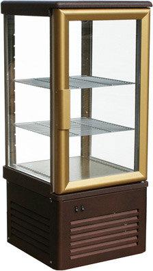 Шкаф кондитерский Полюс R120C Сarboma (D4 VM 120-1 (корич-золотой, 1/2, INOX))