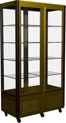 Шкаф кондитерский Полюс R800C Сarboma Люкс (D4 VM 800-1 (корич-золотой, 1/2, INOX)