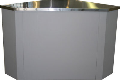 Прилавок неохлаждаемый угловой Полюс У-1 Полюс (внеш. угол)
