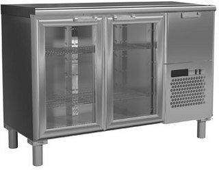 Холодильный стол Россо T57 M2-1-G 9006-1 корпус серый, без борта (BAR-250C)