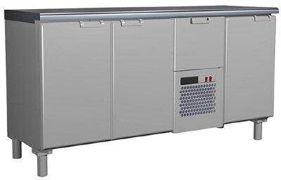 Холодильный стол Россо T57 M3-1 9006-1 корпус серый без борта (BAR-360)