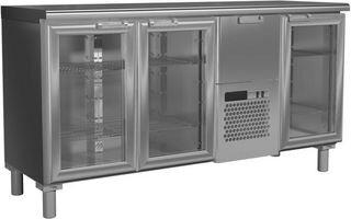 Холодильный стол Россо T57 M3-1-G 9006-1 корпус серый, без борта (BAR-360C)