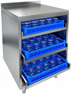Стол для посудомоечных корзин Hicold НБМКБ-6/6Б