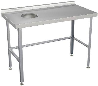 Стол для сбора отходов Atesy СРО-С-1Л-1500.600-02 (СРО-3/1500 левый)
