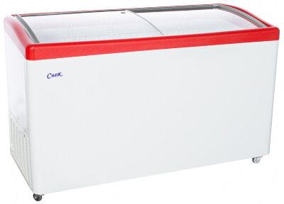 Морозильный ларь Снеж МЛГ-500 (красный)