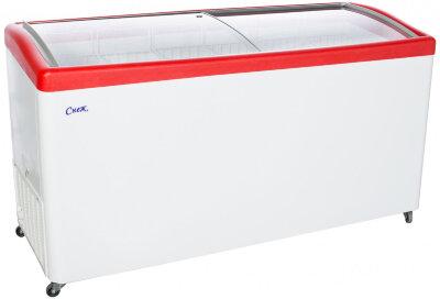 Морозильный ларь Снеж МЛГ-600 (красный)