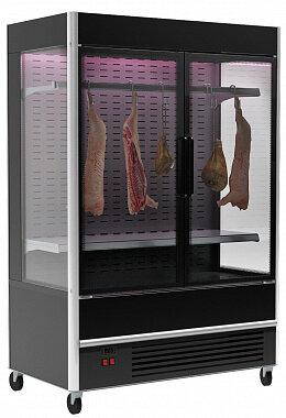 Витрина для демонстрации мяса Полюс FC 20-08 VV 1,3-1 X7 (распашные двери структурный стеклопакет)