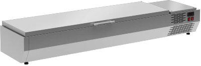 Тепловая витрина для ингредиентов Полюс A40 SH 1,3 с крышкой 0430