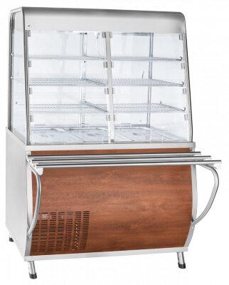 Прилавок-витрина холодильный Abat Премьер ПВВ(Н)-70Т-С-НШ кашир.