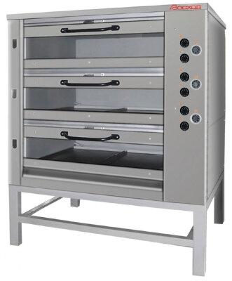 Печь хлебопекарная Восход ХПЭ-750/3 С (со стеклянными дверьми)