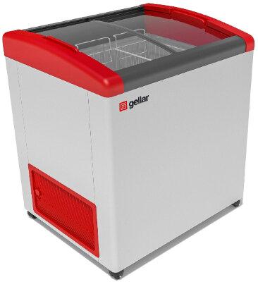 Морозильный ларь Gellar FG 250 E (FG 200 E) красный