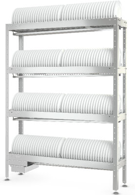 Стеллаж для сушки тарелок Atesy СКТ-С-1200-02-Н (СКТ-1/1200)