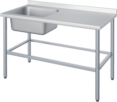 Ванна моечная Atesy ВСМЦС-П-1Л.500.400-1200.600-1-02 (ВСМЦ-1/1200Н с правым столом)