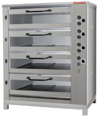 Печь хлебопекарная Восход ХПЭ-750/4 С (со стекл. двер., в обреш.)